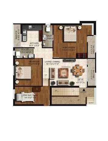 VJS Ashraya, Chennai - Floor Plan