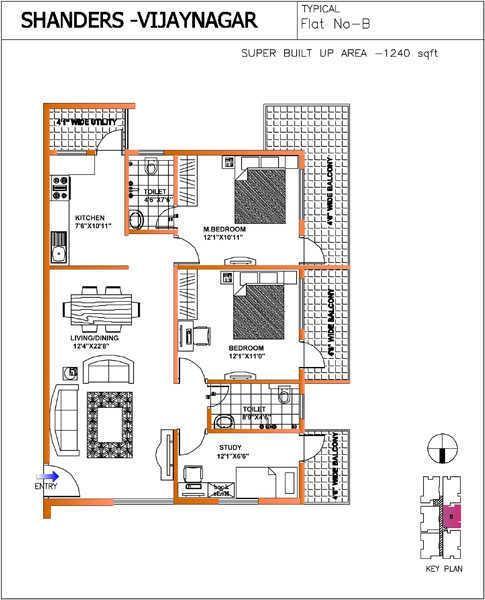 Shanders Splendour, Bangalore - Floor Plan