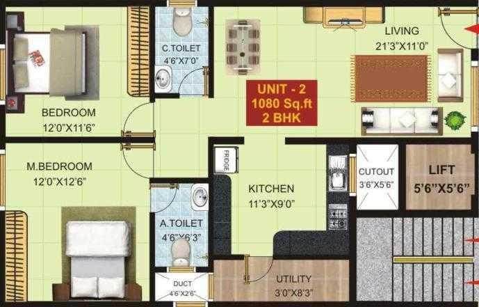 Vayu Stuti Vaibhava, Bangalore - Floor Plan