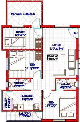 Oyester Crest Castle, Chennai - Floor Plan