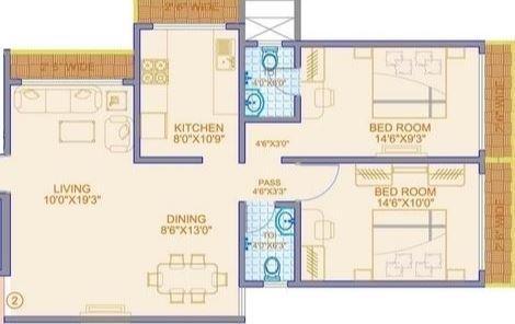 Kamala Siddheshwar, Mumbai - Floor Plan