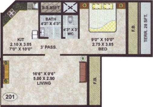 Stone Vision Prayer, NaviMumbai - Floor Plan