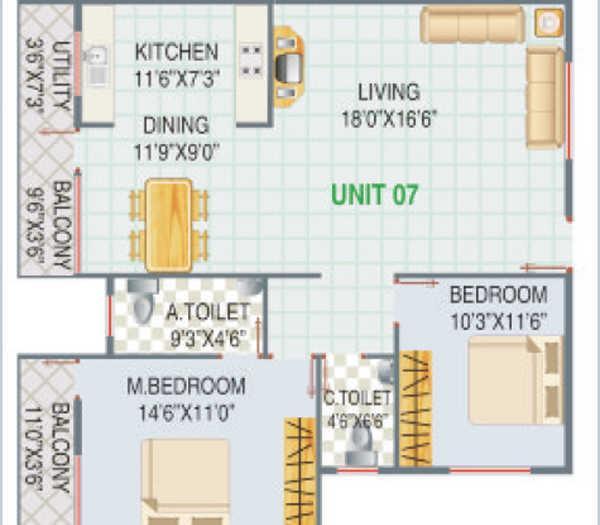 GS Builtech Ajantha Vihar, Bangalore - Floor Plan