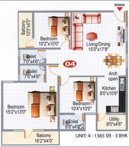 Amit White Orchid, Bangalore - Floor Plan