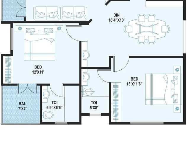 Affinity Silver Oak Enclave, Bangalore - Floor Plan