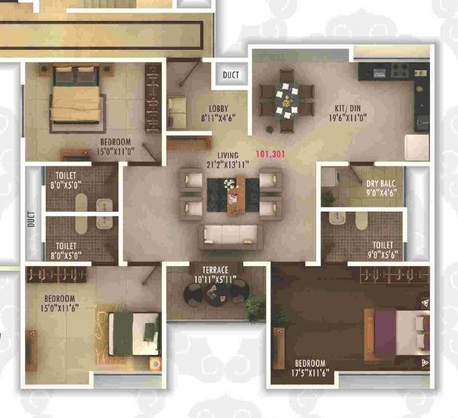 Pristine Royale, Pune - Floor Plan