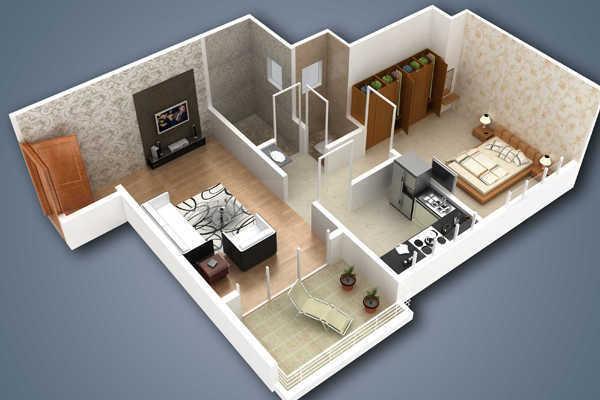 LJ Aarya Residency Phase I, NaviMumbai - Floor Plan