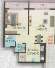 Om Sai Kutir, NaviMumbai - Floor Plan