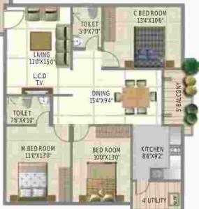 SLV Raj Driva, Bangalore - Floor Plan