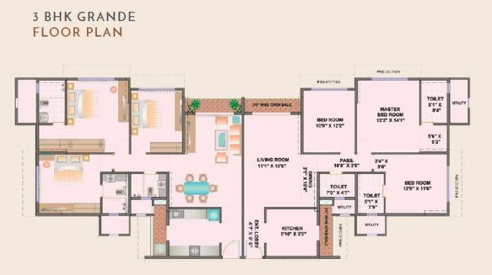 Ekta Tripolis, Mumbai - Floor Plan