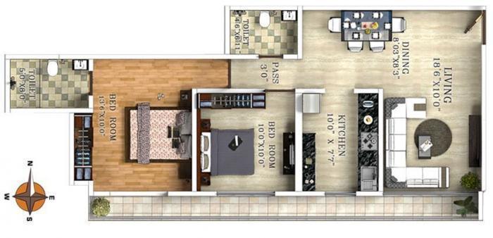 Dedhia Elita , Thane - Floor Plan