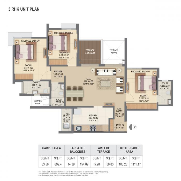 Kingsbury Phase I at Pride World City, Pune - Floor Plan