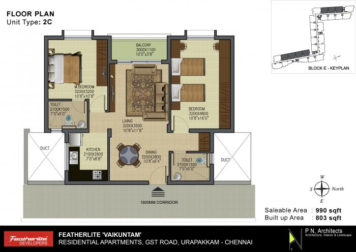Featherlite Vaikuntam Apartment, Chennai - Floor Plan