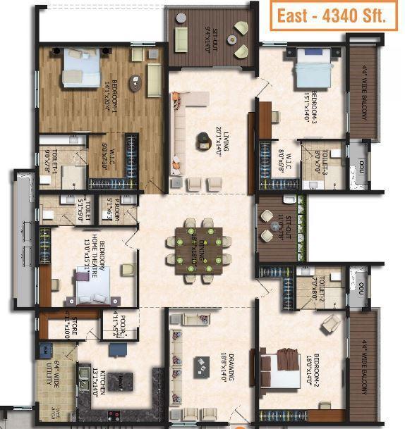 Rajapushpa Eterna, Hyderabad - Floor Plan