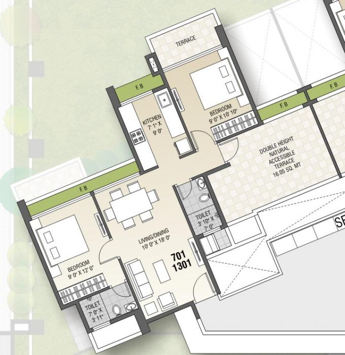 Tricity Panache, NaviMumbai - Floor Plan