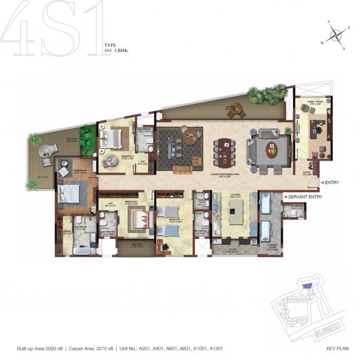 Casagrand ECR14, Chennai - Floor Plan
