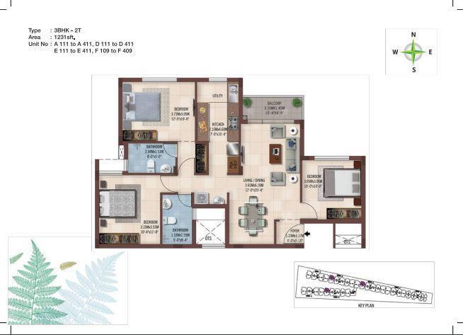 Casagrand Ferns, Chennai - Floor Plan