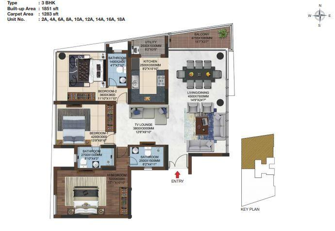 Casagrand Olympus, Chennai - Floor Plan