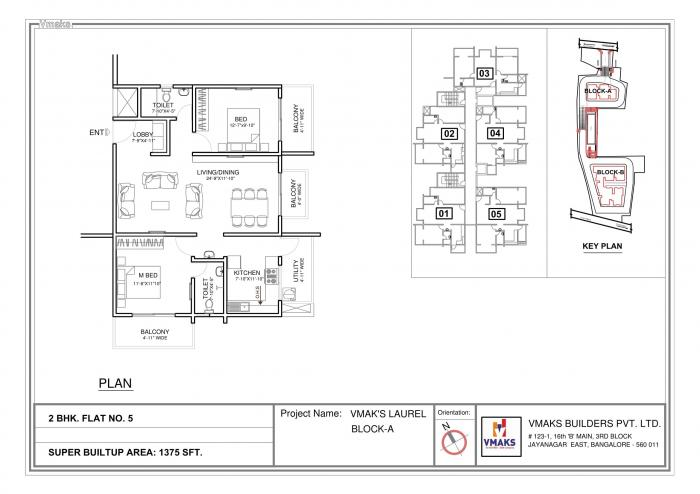 Vmaks Laurel, Bangalore - Floor Plan