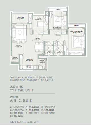 Orchid Piccadilly, Bangalore - Floor Plan