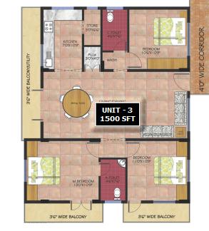 Anubhava Ishwerya Opal, Bangalore - Floor Plan