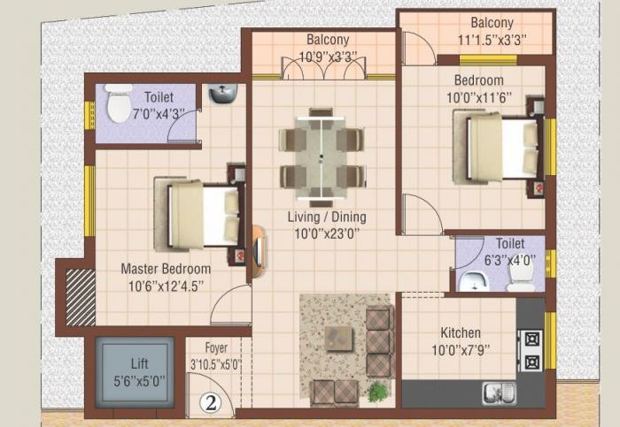 NewCrest Castle, Chennai - Floor Plan