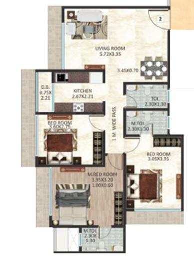 DGS Sheetal Aniket, Mumbai - Floor Plan