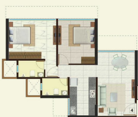 Poddar Shri Ganesh Apartment, Mumbai - Floor Plan