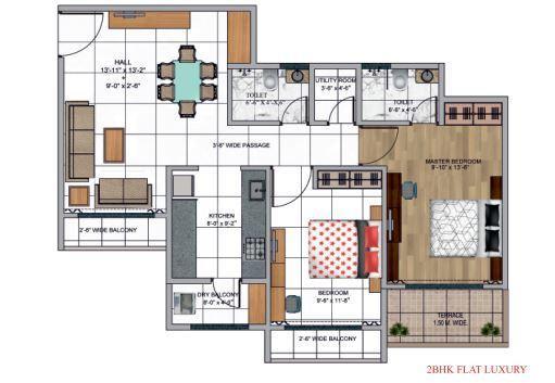 Globe Paradise, Mumbai - Floor Plan