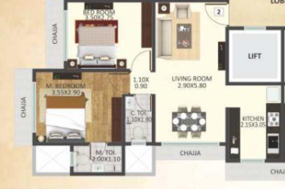 DGS Sheetal Om Jay Aradhana, Mumbai - Floor Plan