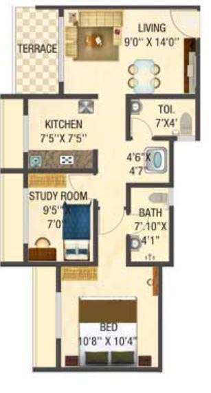 Ashapura My Sky Residency, Mumbai - Floor Plan