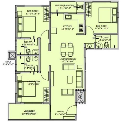 Mehi Aarushi Residency The Rising Sun, Bangalore - Floor Plan