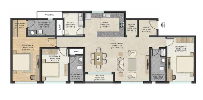 Sobha Clovelly, Bangalore - Floor Plan