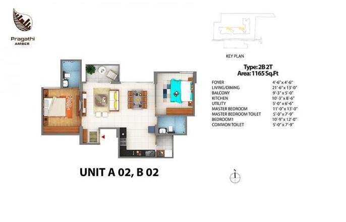 SLV Pragathi Amber, Bangalore - Floor Plan