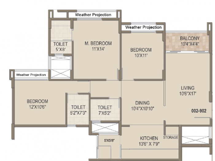 Arvind Skylands, Bangalore - Floor Plan