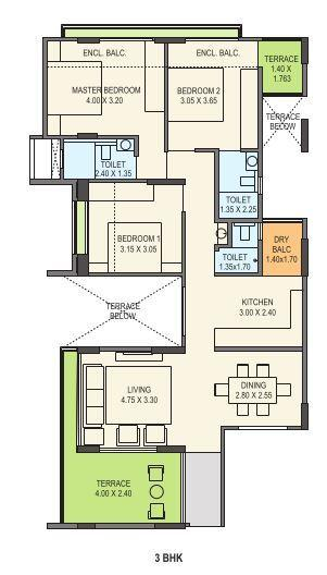 Kohinoor Courtyard One, Pune - Floor Plan