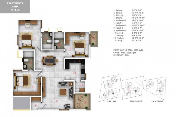 Aratt Cityscapes Apartment, Bangalore - Floor Plan