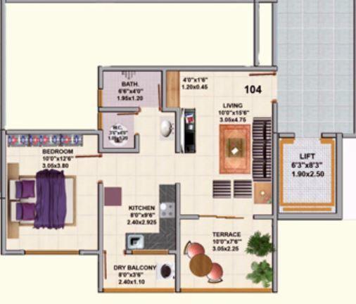Saakshi Parvatara, Pune - Floor Plan