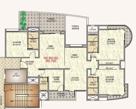 Shree Metro Jazz, Pune - Floor Plan