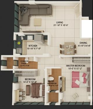 RC Orchid Springs, Mumbai - Floor Plan