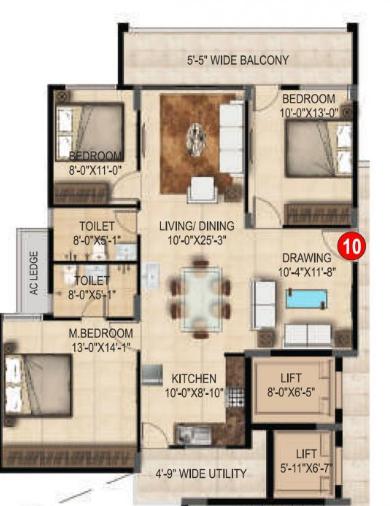 SMR Vinay Estella, Bangalore - Floor Plan