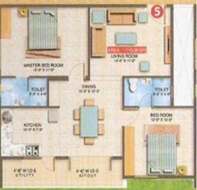 Sai Ram Residency, Bangalore - Floor Plan
