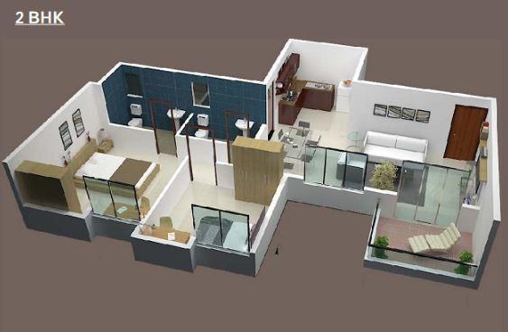 KBD Palladion Apartment, Pune - Floor Plan