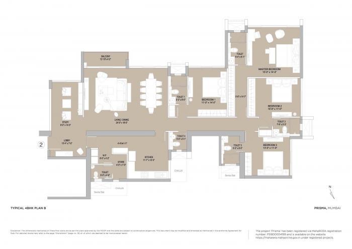 Oberoi Prisma, Mumbai - Floor Plan