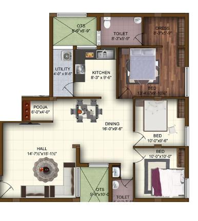 Arima Wake Field, Coimbatore - Floor Plan