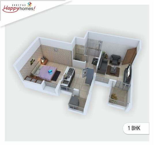 Shreyas Happy Homes, Pune - Floor Plan