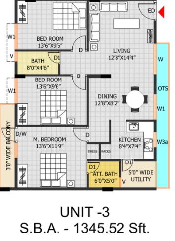 Atlantis Neo Liven, Bangalore - Floor Plan