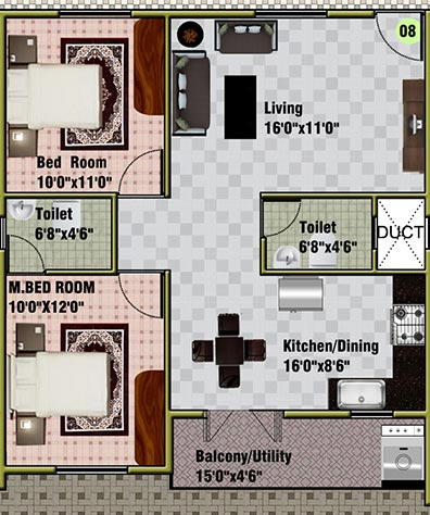 DSMAX SPRING NEST, Bangalore - Floor Plan