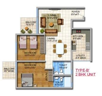 Umiya Woods Apartment, Bangalore - Floor Plan