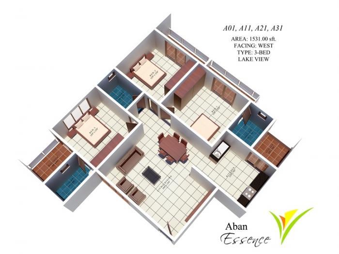 Aban Essence, Bangalore - Floor Plan